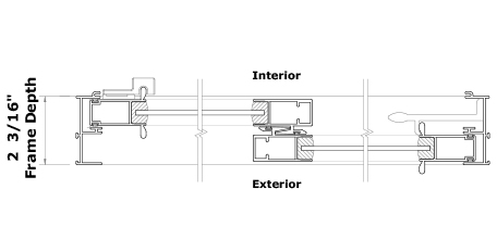 1000 Door Series Cross Section