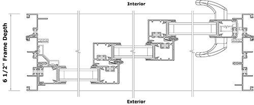 7000-3T Door Series Cross Section